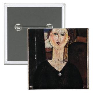 Antonia, c.1915 pinback button