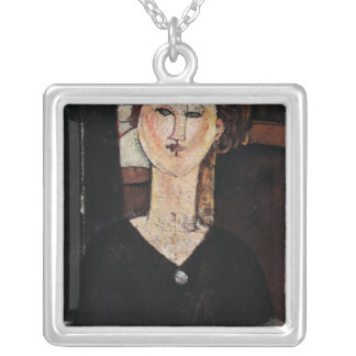 Antonia, c.1915 silver plated necklace