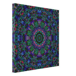 Antonia's Clock Mandala Canvas Print