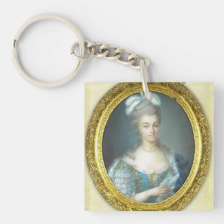 Antoniette et Paris Single-Sided Square Acrylic Keychain
