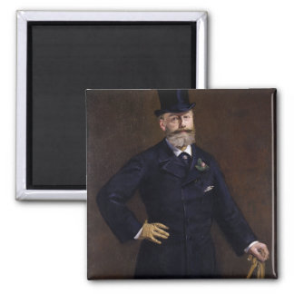 Antonin Proust by Edouard Manet 2 Inch Square Magnet