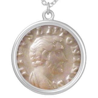 Antoninus Pius Round Pendant Necklace