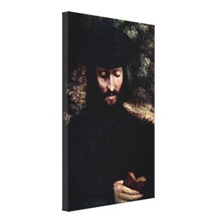 Antonio Allegri da Correggio - Portrait of a man Canvas Print