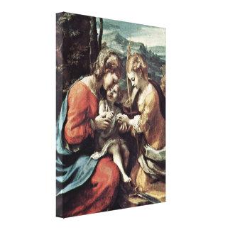 Antonio da Correggio - Marriage of StCatherine Gallery Wrapped Canvas