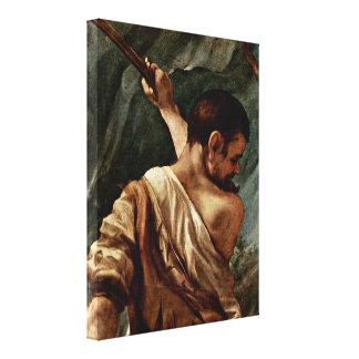Antonio da Correggio - Marriage of StCatherine Canvas Print