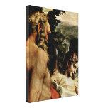 Antonio da Correggio - St Jerome and Angel Stretched Canvas Prints