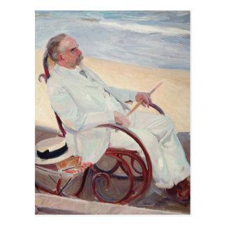 Antonio García en la playa - Joaquín Sorolla Tarjetas Postales