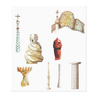 Antonio Gaudi. Barcelona. Spain. Architectural Canvas Print