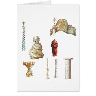 Antonio Gaudi. Barcelona. Spain. Architectural Card