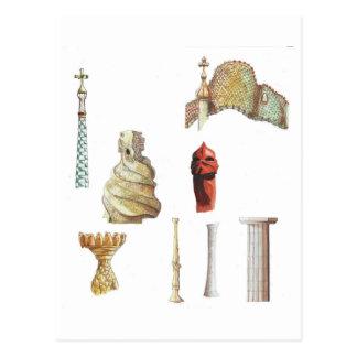 Antonio Gaudi. Barcelona. Spain. Architectural Postcard