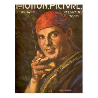 Antonio Moreno vintage magazine cover Postcard