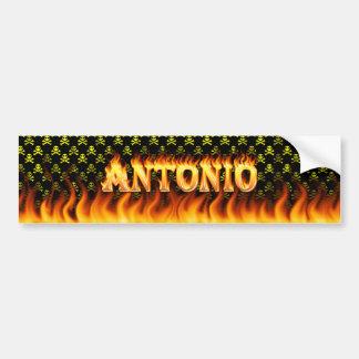 Antonio real fire and flames bumper sticker design