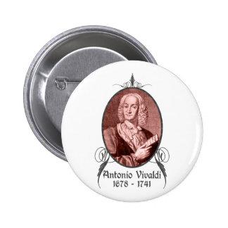 Antonio Vivaldi Pin Redondo De 2 Pulgadas