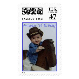 Antonio's 1st Birthday Postage