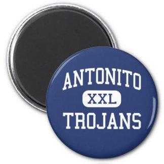 Antonito - Trojans - Junior - Antonito Colorado 2 Inch Round Magnet