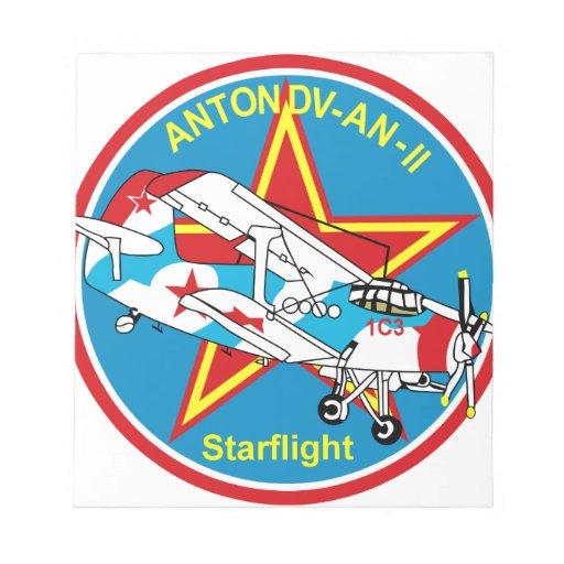 Antonov AN2 Starflight An 2 Antonov - Pinex Note Pad
