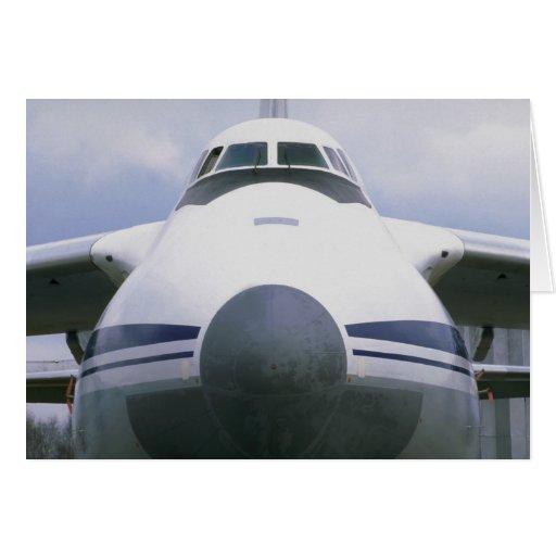 Antonov AN-124 heavy lift transport, Russian Air F Greeting Card