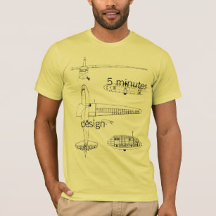 Blueprint designs clothing apparel zazzle antonow blueprints 5 minutes design t shirt malvernweather Choice Image