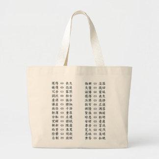 antonym Japanese study Kanji Tote Bags