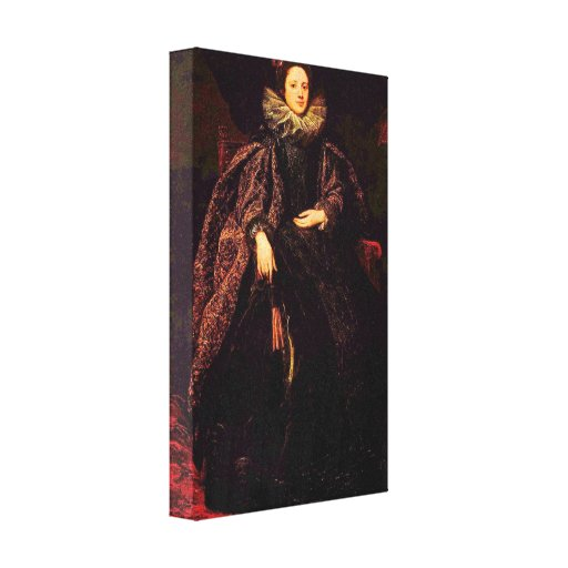 Antoon van Dyck - Portrait of Marchesa Balbi Stretched Canvas Print