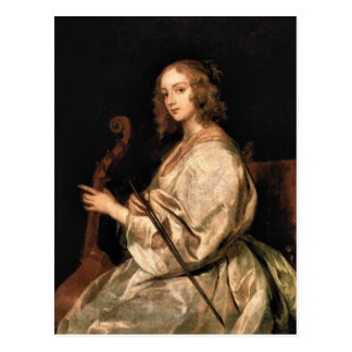 Antoon van Dyck - Portrait of Mary Ruthven wife of Postcard