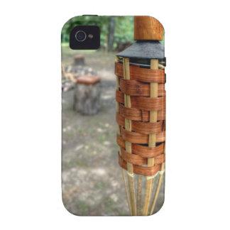 Antorcha de Tiki y fuego del campo iPhone 4/4S Carcasa
