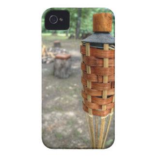 Antorcha de Tiki y fuego del campo iPhone 4 Protectores