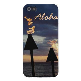 Antorchas de Tiki iPhone 5 Carcasas