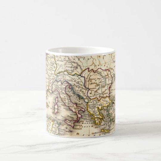 Antquie Map of Ancient Roman Coffee Mug