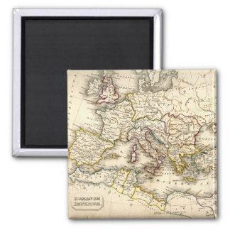 Antquie Map of Ancient Roman 2 Inch Square Magnet