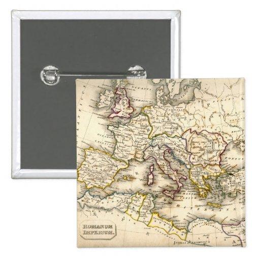 Antquie Map of Ancient Roman Pinback Button
