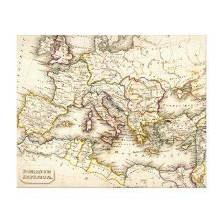 Antquie Map of the Ancient Roman Empire Canvas Print