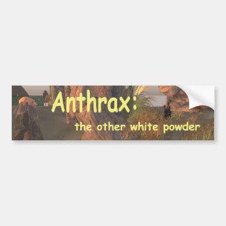 ántrax pegatina de parachoque