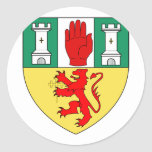 Antrim arms, Ireland Classic Round Sticker