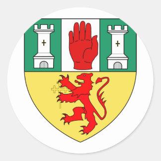 Antrim arms, Ireland Round Stickers