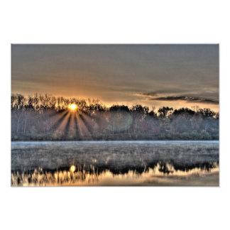 Antrim Lake Sunrise, Columbus, Ohio Photo Print