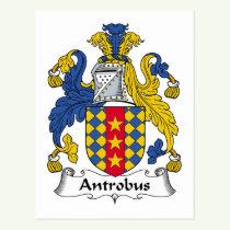 Antrobus Family Crest Postcard