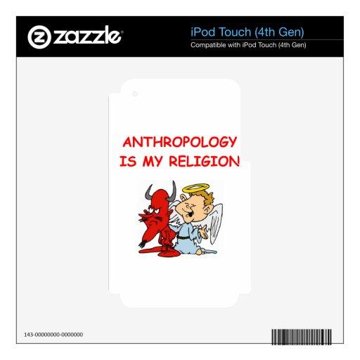 antropología calcomanía para iPod touch 4G