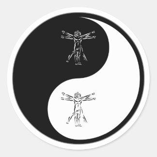 Antropología de Yin Yang Pegatinas Redondas