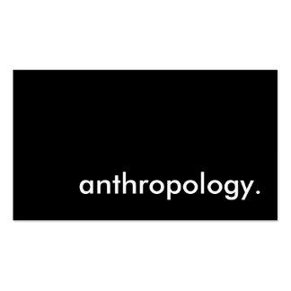 antropología tarjetas de visita