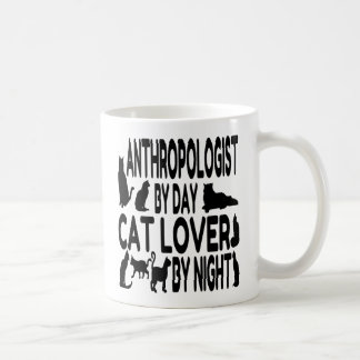 Antropólogo del amante del gato taza de café