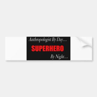 Antropólogo del super héroe pegatina de parachoque