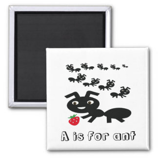 Ants 2 Inch Square Magnet