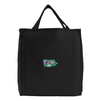 Ants And Potato Chips Embroidered Tote Bag