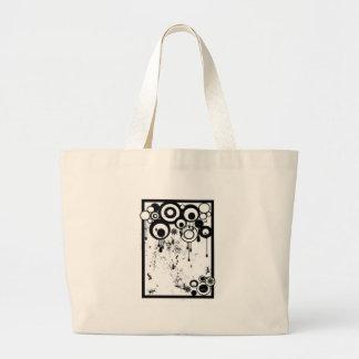 Ants & Circles - Black & White Large Tote Bag