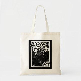 Ants & Circles - Black & White Negative Tote Bag
