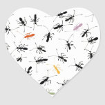 Ants Everywhere Heart Sticker