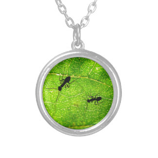 Ants Green Acre Silver Plated Necklace
