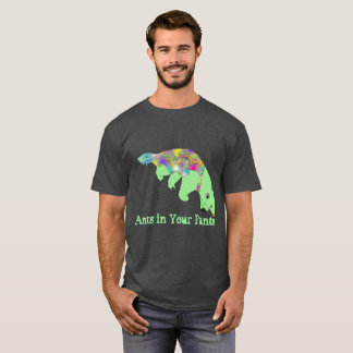 Ants in Your Pants Green Anteater Animal Art T-Shirt