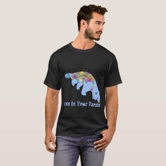 Ants in Your Pants Light Blue Anteater Animal Art T-Shirt